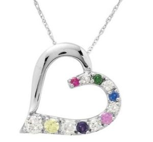 close to my heart birthstone pendant