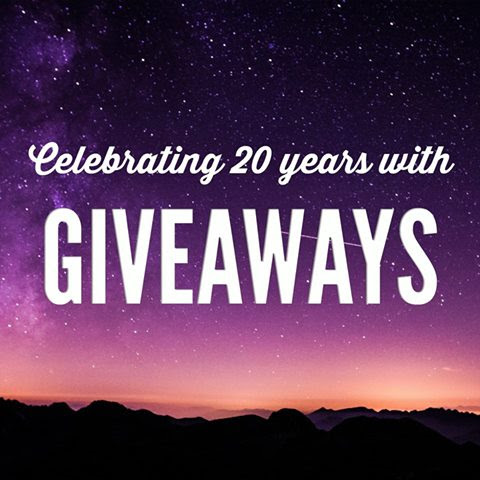 Help us celebrate our 20th anniversary by taking part in our monthly giveaways!